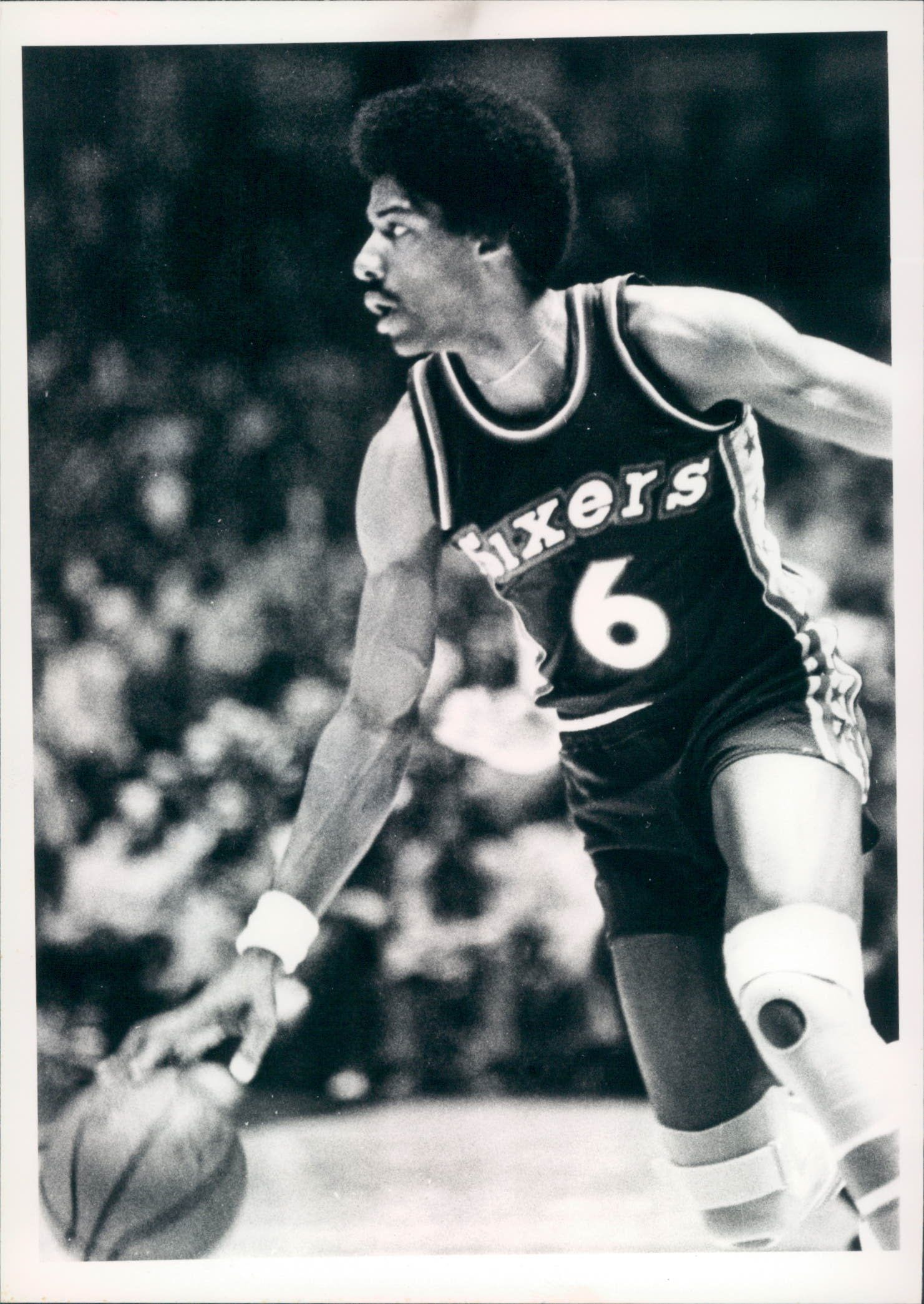1976-84 circa Julius Erving Philadelphia 76ers Original Type 1 5 quot  x 7    Julius Erving 76ers