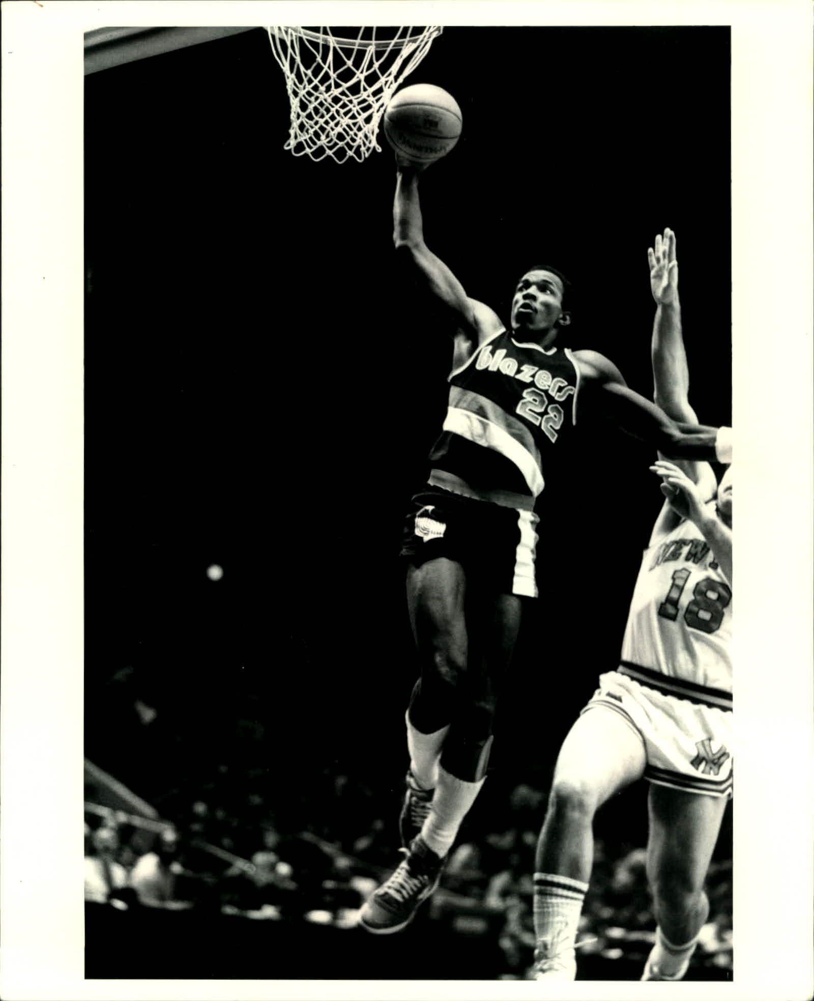Blazers Portland Posters: 1982-87 Clyde Drexler Portland Trailblazers