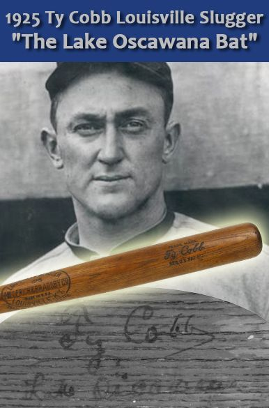 "1925 Ty Cobb H&B Louisville Slugger Game Used Autographed bat (MEARS A9) ""The Lake Oscawana Bat"""