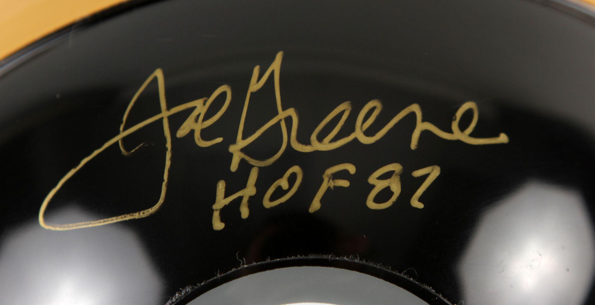 the latest f2d11 85dfd Lot Detail - Mean Joe Greene Pittsburgh Steelers Signed Mini ...