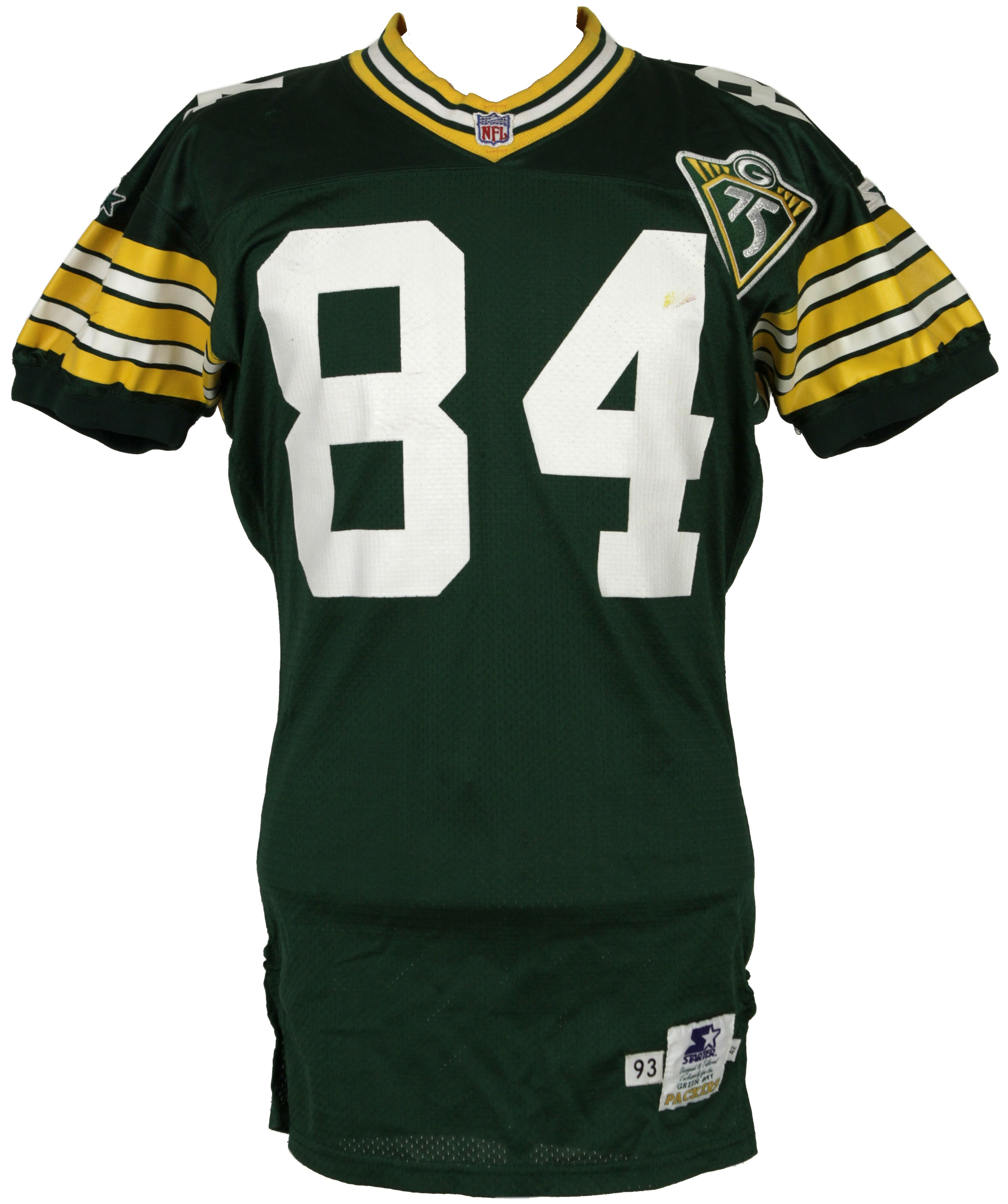 Lot Detail - 1993 Sterling Sharpe Game Worn Green Bay Packers ...