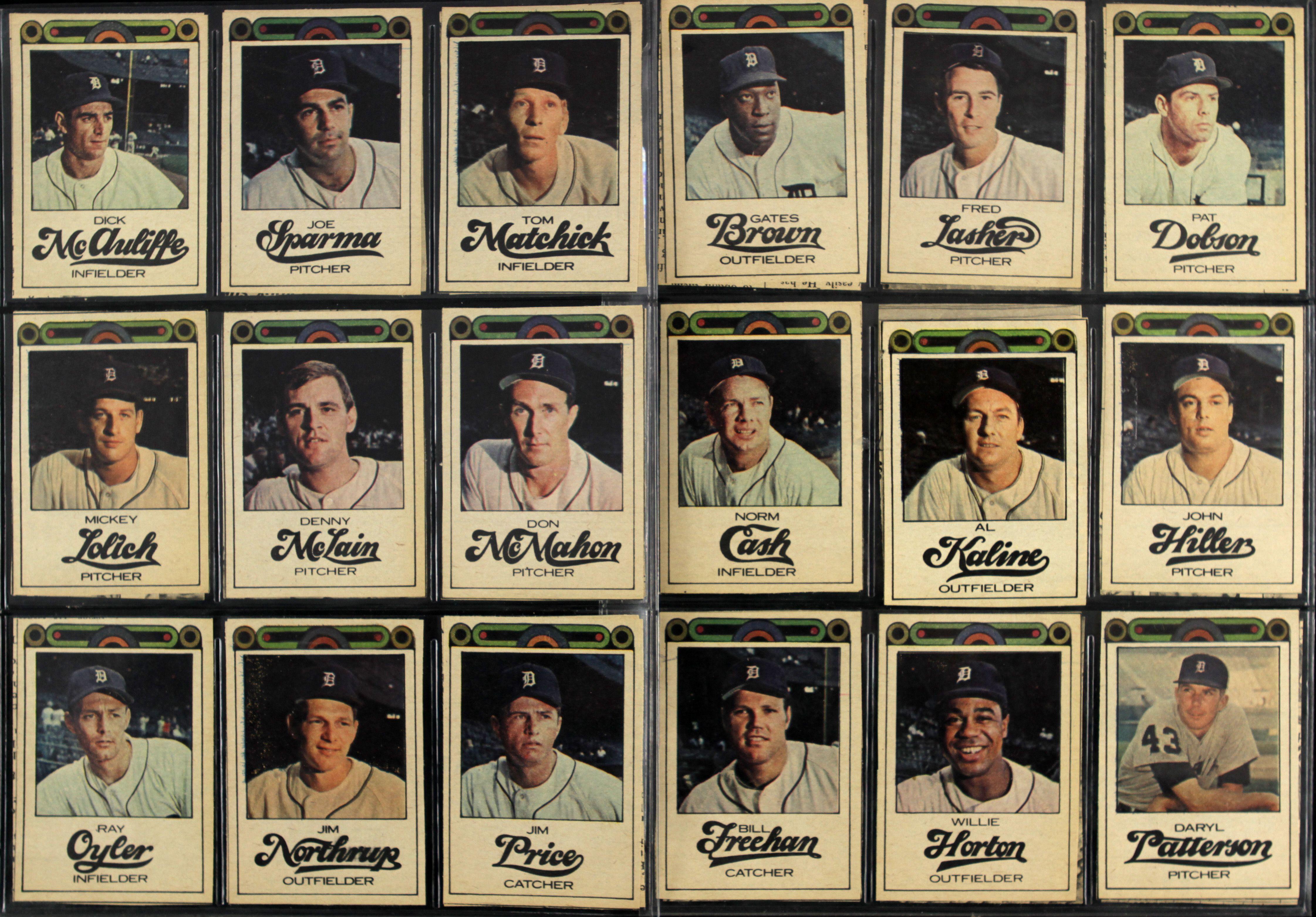 Lot Detail 1968 Detroit Free Press Bubblegumless Tigers Cards