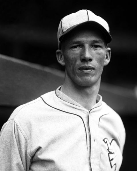 "1925 Lefty Grove Philadelphia Athletics Charles Conlon Original 11"" x 14"" Photo Hand Developed from Glass Plate Negative & Published (The Sporting News Hologram/MEARS Photo LOA)"