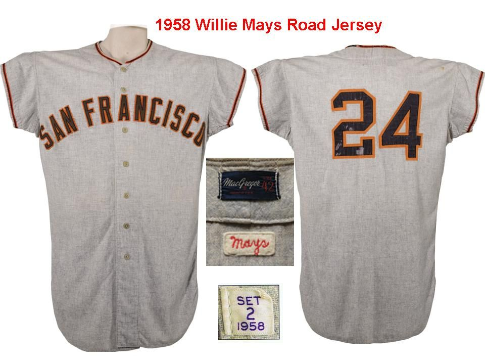 online store b3017 3d097 Lot Detail - 1958 Willie Mays San Francisco Giants Game Worn ...