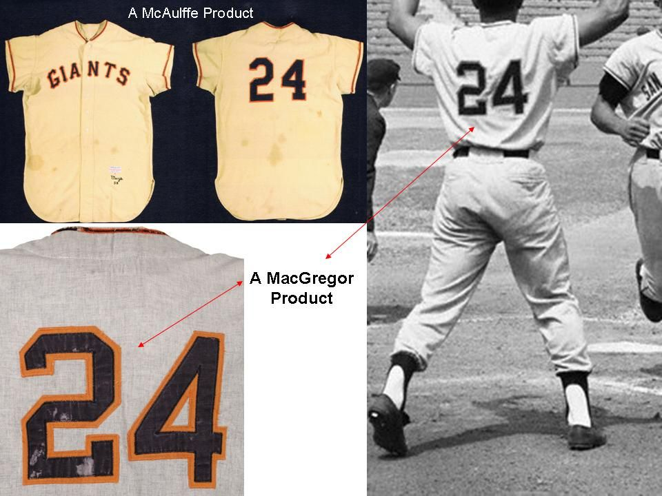 2019b5404 Lot Detail - 1958 Willie Mays San Francisco Giants Game Worn Road Jersey  (MEARS A7.5 )