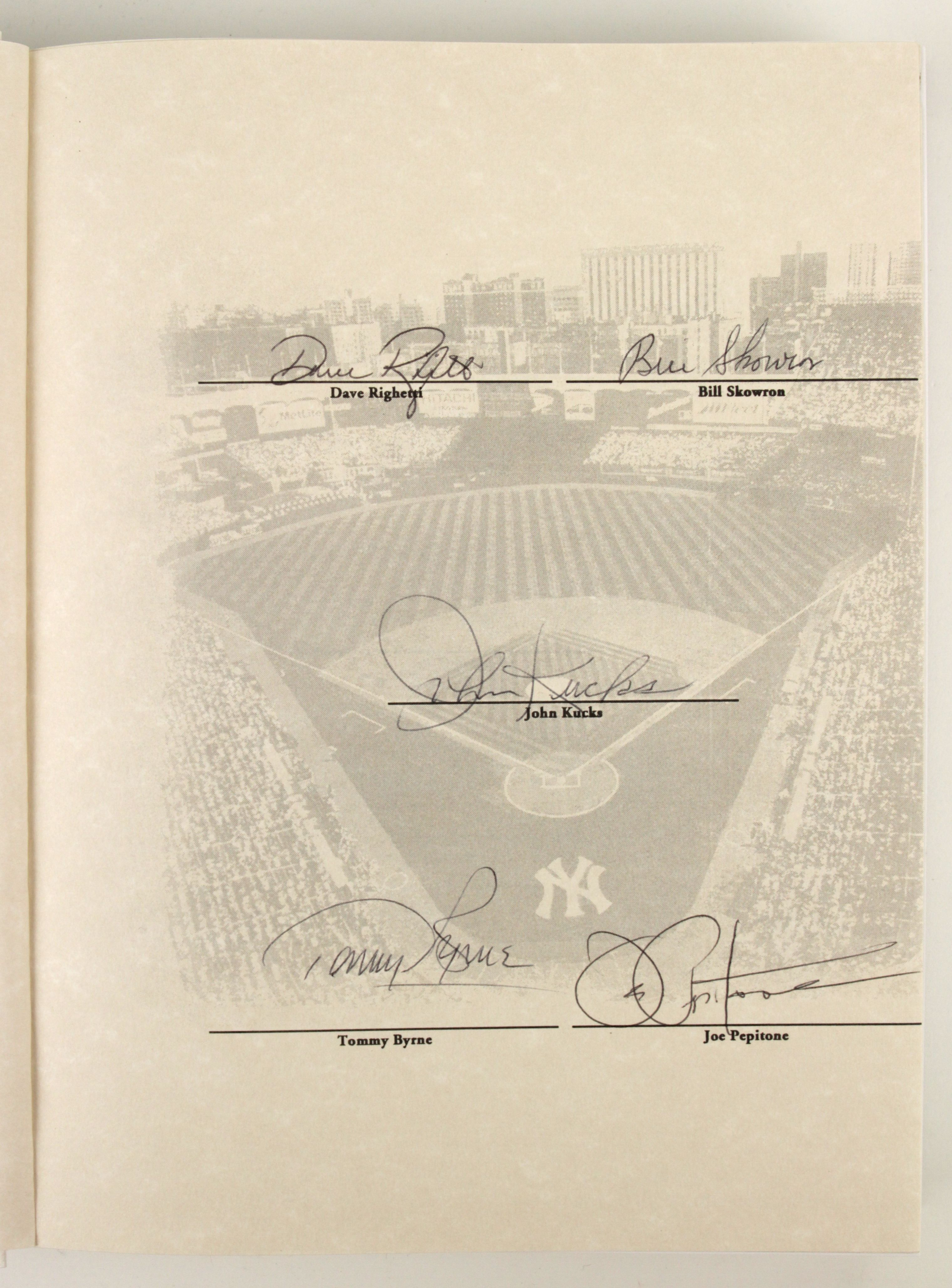 2003 BASEBALL BOOK SIGNED BY AUTHOR