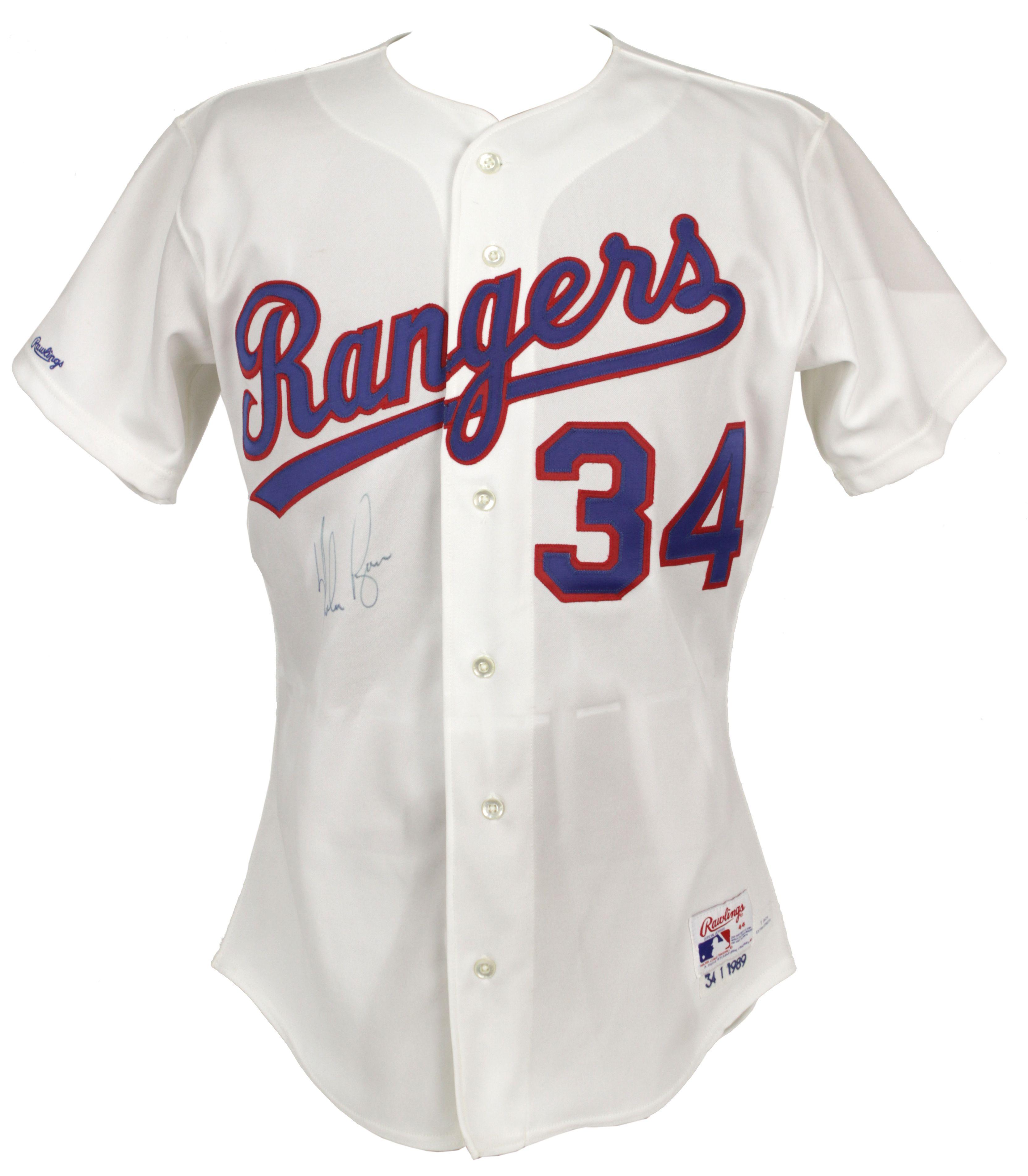 Lot Detail 1989 Nolan Ryan Texas Rangers Signed