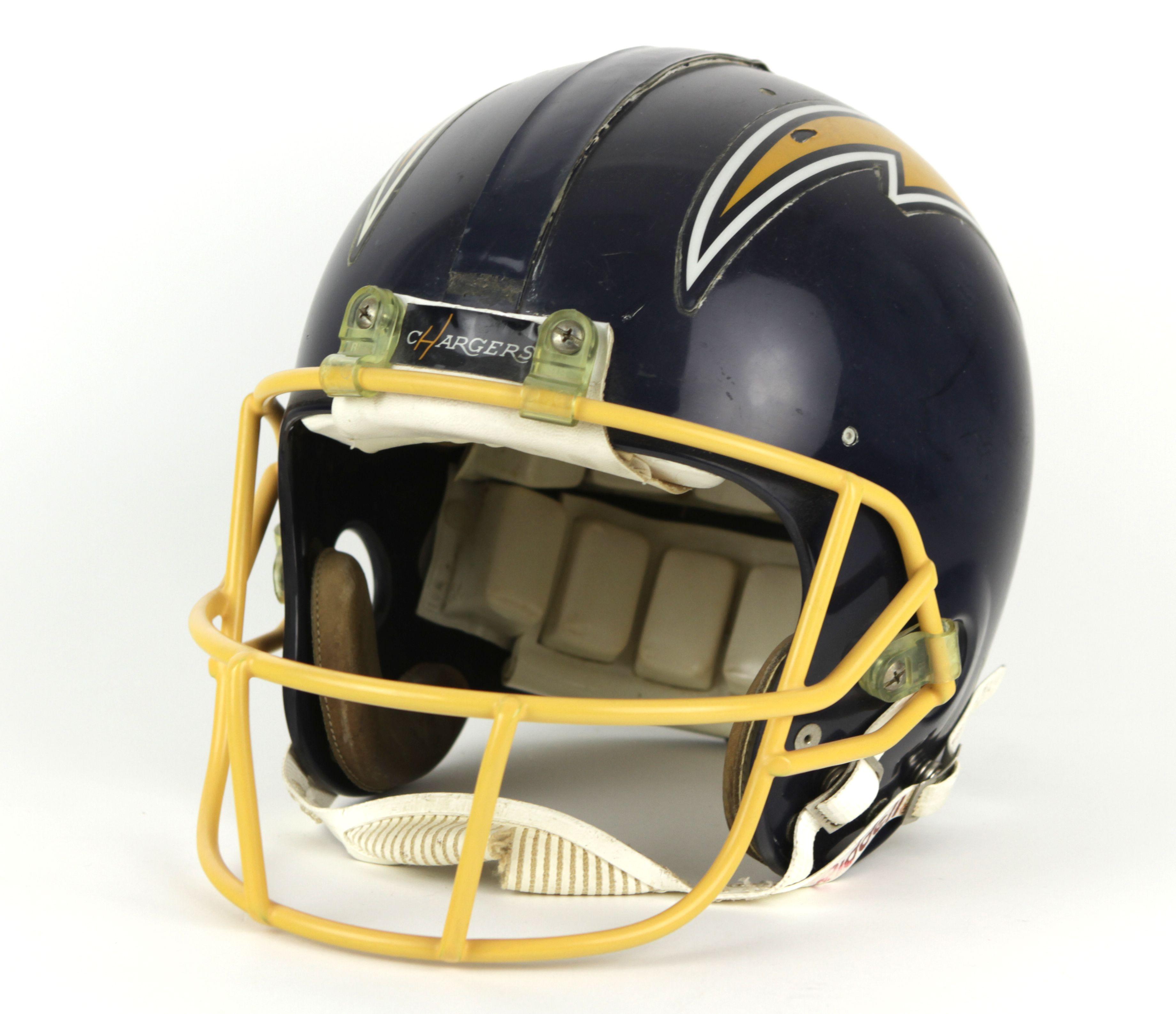 San Diego Chargers Helmet Decals: 1988-90 Gil Byrd San Diego Chargers Game Worn