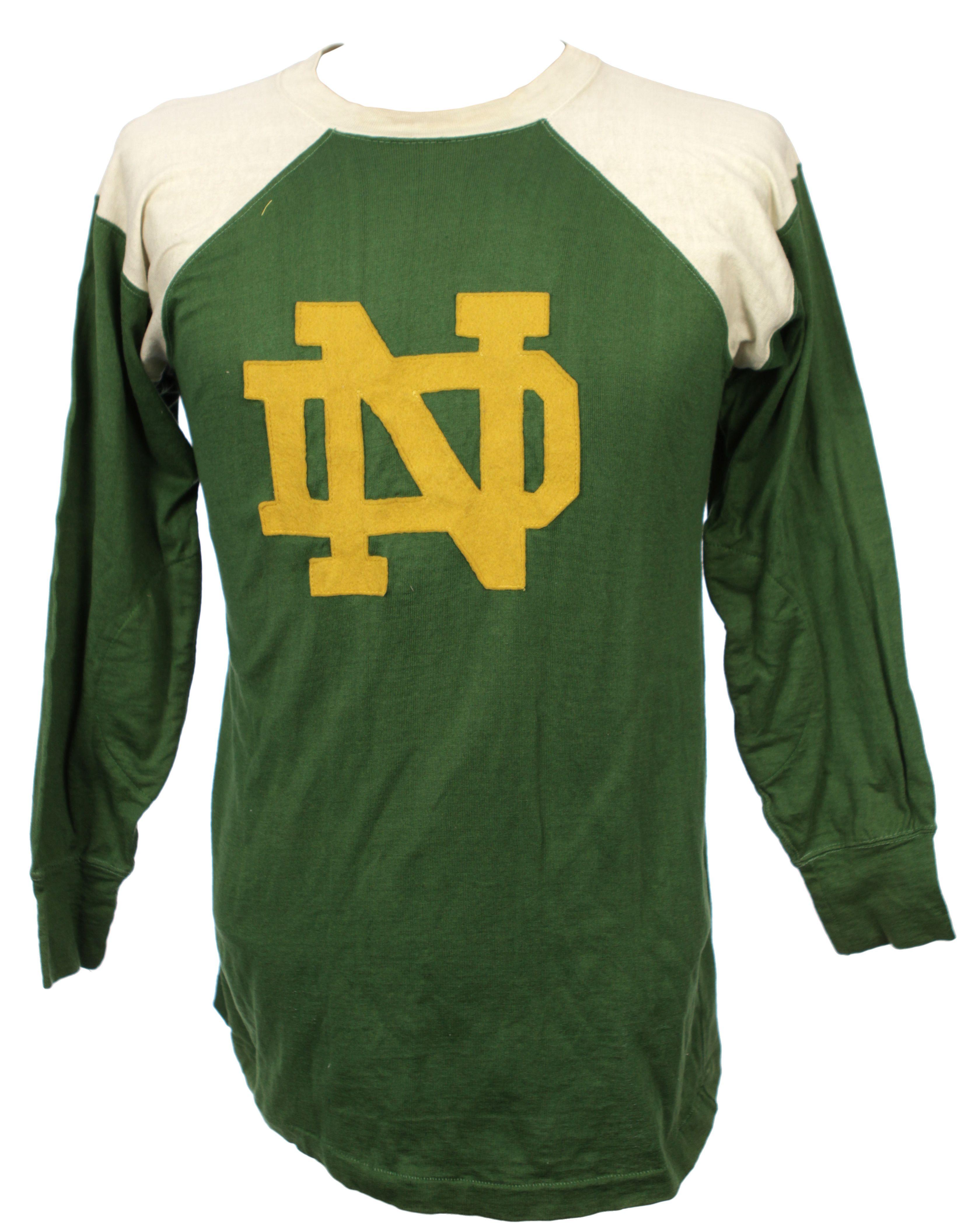 meet 0048d b921a Lot Detail - 1950s-60s Notre Dame Warner Brothers Hockey Jersey