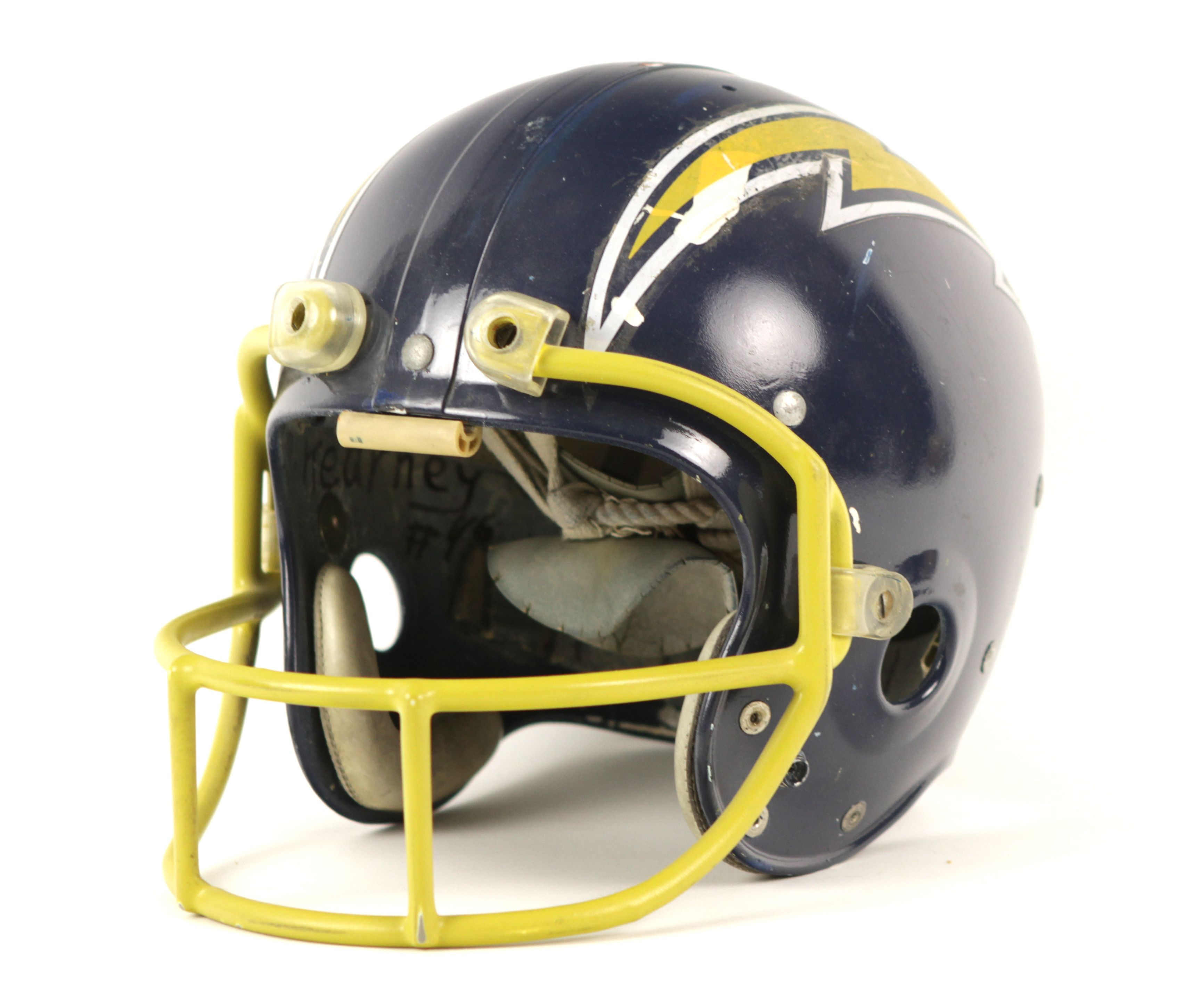 San Diego Chargers Helmets: 1971 Circa San Diego Chargers Game Worn