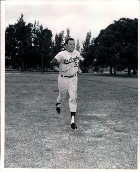 "1964 Don Drysdale Los Angeles Dodgers ""TSN Collection Archives"" Original 8"" x 10"" Photo (Sporting News Collection Hologram/MEARS LOA)"
