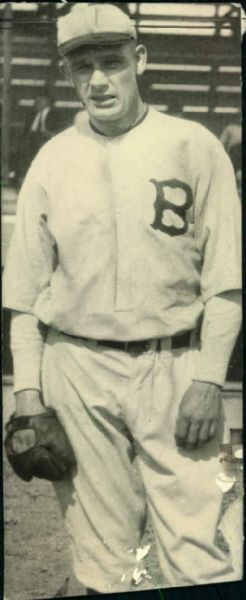 "1922 Rube Marquard Boston Braves ""Boston Herald Archives"" Original 2.5"" x 6"" Photo (BH Archives Hologram/MEARS LOA)"
