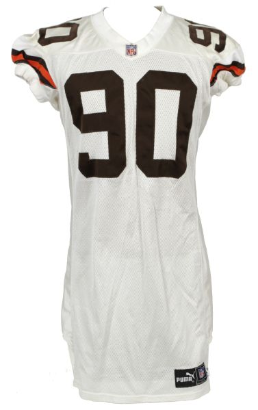 2000 Keith McKenzie Cleveland Browns Game Worn Jersey w/2 Repairs  - MEARS LOA