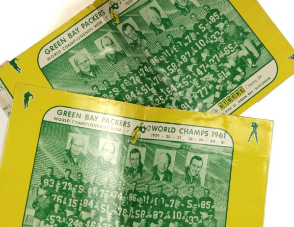 1962 Rare Green Bay Packers Book Cover - Lot of 2 Celebrating 1961 Championship
