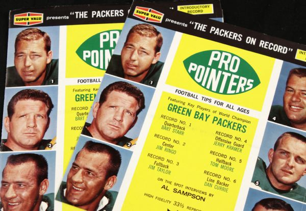 1961-63  Green Bay Packers Pro Pointers 33 1/3 Album - Lot of 2 w/Bart Starr Jim Taylor Kramer Ringo