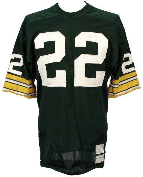 1971-72 Elijah Pitts/Jon Staggers Green Bay Packers Game Worn Jersey - MEARS LOA
