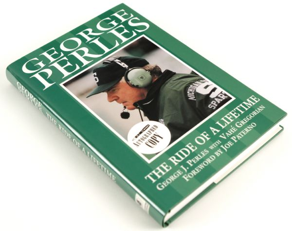 1995 George Perles MSU Spartans Signed The Ride of a Lifetime Hardcover Book