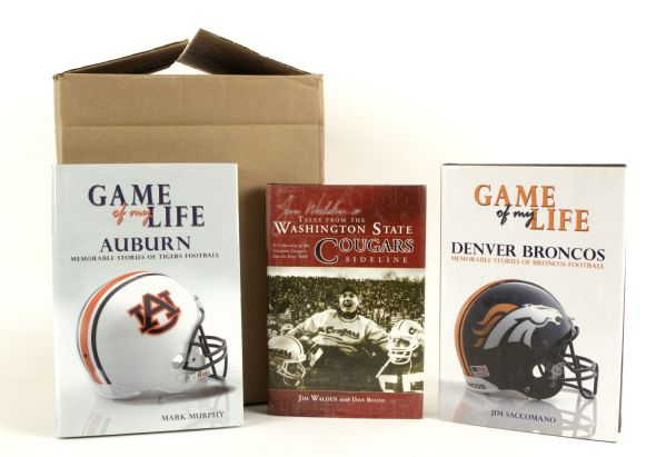 2007 Game of my Life Auburn Hardcover Book - Lot of 10 Other Books - 18 Total Books