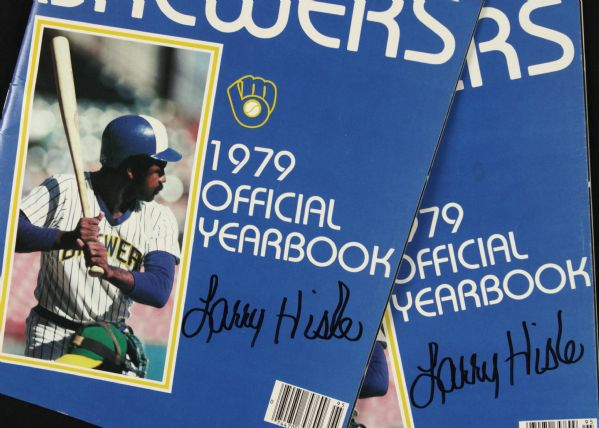 1979 Milwaukee Brewers Signed Team Yearbook - Lot of 2 w/ Bud Selig - JSA