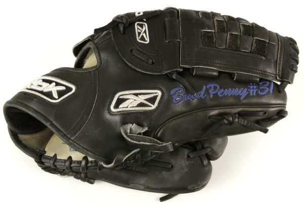 2007 Brad Penny Los Angeles Dodgers Game Worn Signed Glove From All Star Season - JSA & MEARS LOA