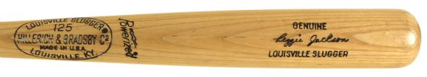 1973-75 Reggie Jackson Oakland As H&B Louisville Slugger Professional Model Game Used Bat (MEARS LOA)