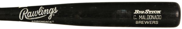 1991 Candy Maldonado Milwaukee Brewers Rawlings Professional Model Game Used Bat (MEARS LOA) Ex-County Stadium