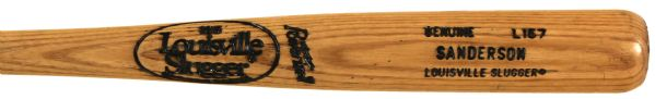 1986-89 Scott Sanderson Chicago Cubs Autographed Louisville Slugger Professional Model Game Used Bat (MEARS LOA)