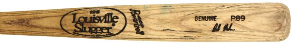 1990 Bob Melvin Baltimore Orioles H&B Louisville Slugger Professional Model Game Used Bat (MEARS LOA) Ex-County Stadium