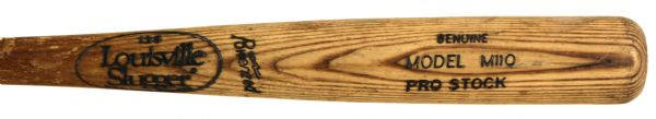 1990s Milwaukee Brewers Louisville Slugger Professional Model Game Used Bat - Autographed by Jeff DAmico (MEARS LOA)