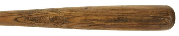 1930 Norm Kries Toledo Mudhens H&B Louisville Slugger Professional Model Game Used Bat - Side Written 8-22-30 (MEARS A6)