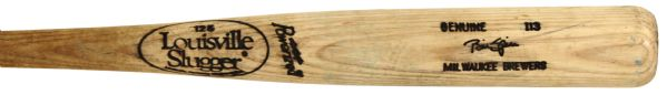 1992-93 Billy Spiers Milwaukee Brewers Louisville Slugger Professional Model Game Used Bat (MEARS LOA) Ex-County Stadium