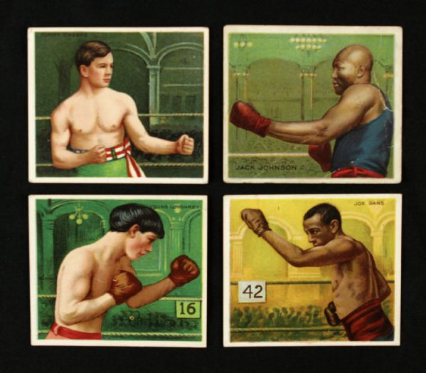 1910-11 Mecca Cigarettes Boxing Card - Lot of 21 w/ Jack Johnson