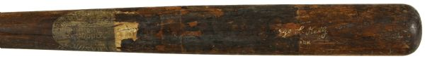 1921-30 George Kelly H&B Louisville Slugger Store Model Bat - Game Used by Unknown Player & Returned to H&B (MEARS LOA)