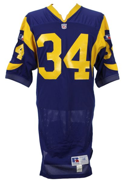 1992-94 Tim Lester Los Angeles Rams Game Worn Jersey - Graded MEARS A8
