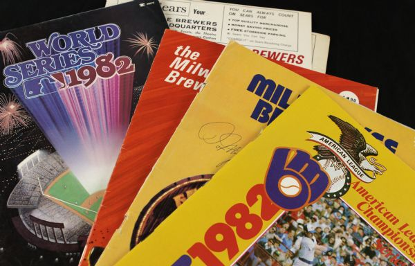 1970-82 Milwaukee Brewers Program Yearbook Publication - Lot of 6