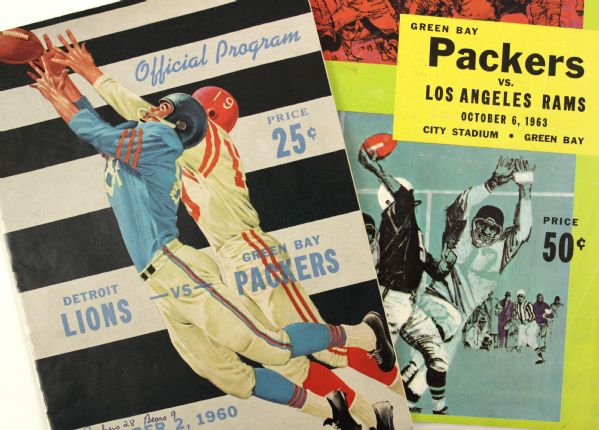 1960-63 Green Bay Packers Program - Lot of 2
