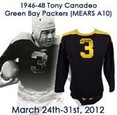 "1946-48 Tony Canadeo Green Bay Packers Game Worn Home Jersey (MEARS A10) The Gonzaga Ghost's Drug Store Jersey – ""Only Example in Private Hands"""