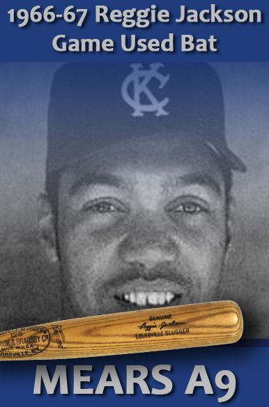 1966-1967 Earliest Known Reggie Jackson H&B Louisville Slugger Profesional Model Signed Game Used Bat (MEARS A9) Kansas City Athletics