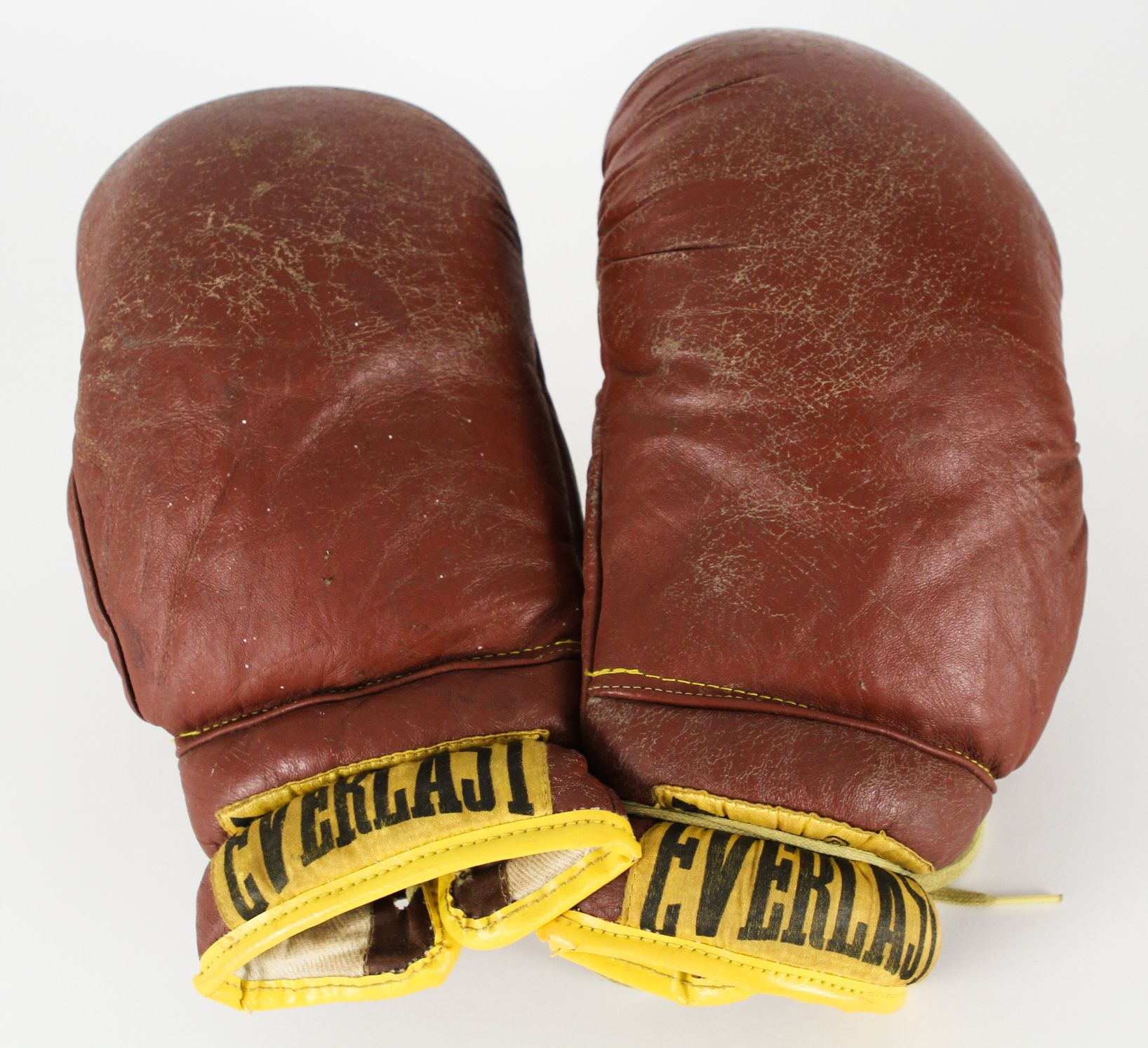 Shiv Naresh Teens Boxing Gloves 12oz: 1970s Vintage Pair Of Everlast Leather Boxing