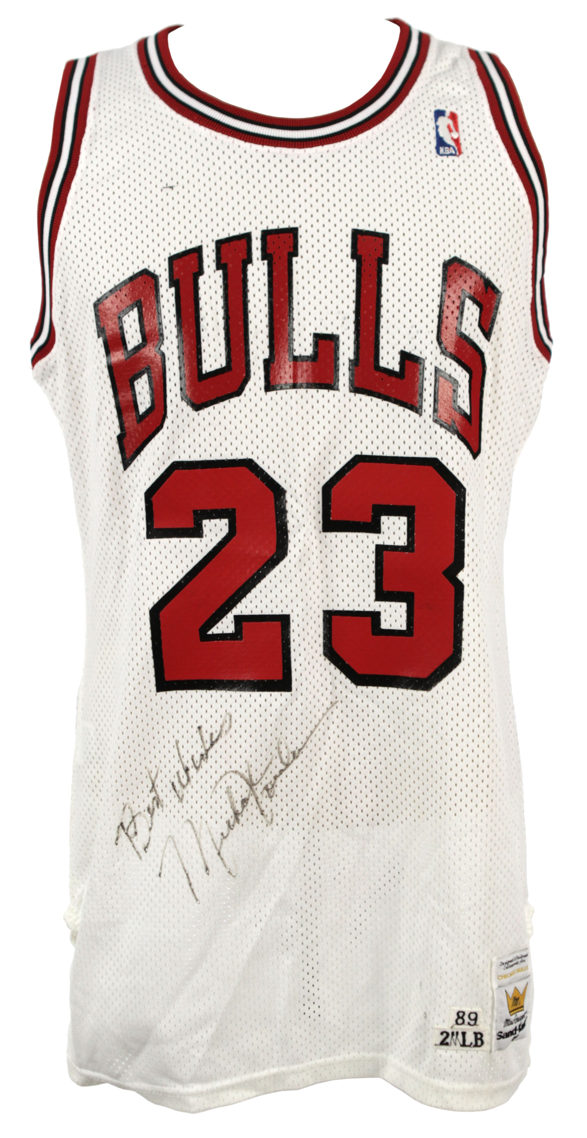 b1c54a17c8df0e ... Michael Jordan Chicago Bulls Game Worn Signed Jersey w  vintage  autograph -. Touch to zoom