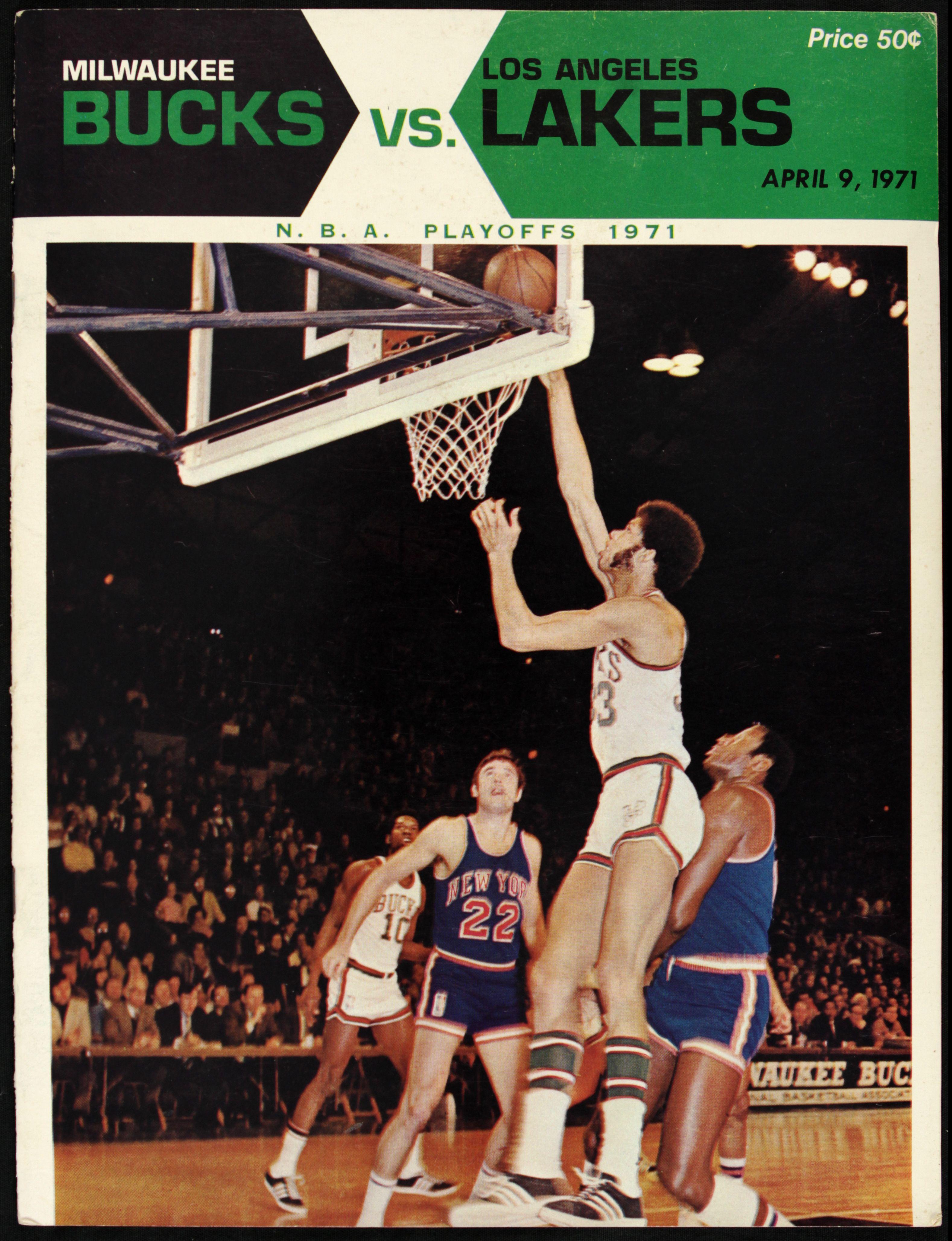 Lot Detail - 1971 Milwaukee Bucks vs. Los Angeles Lakers ...