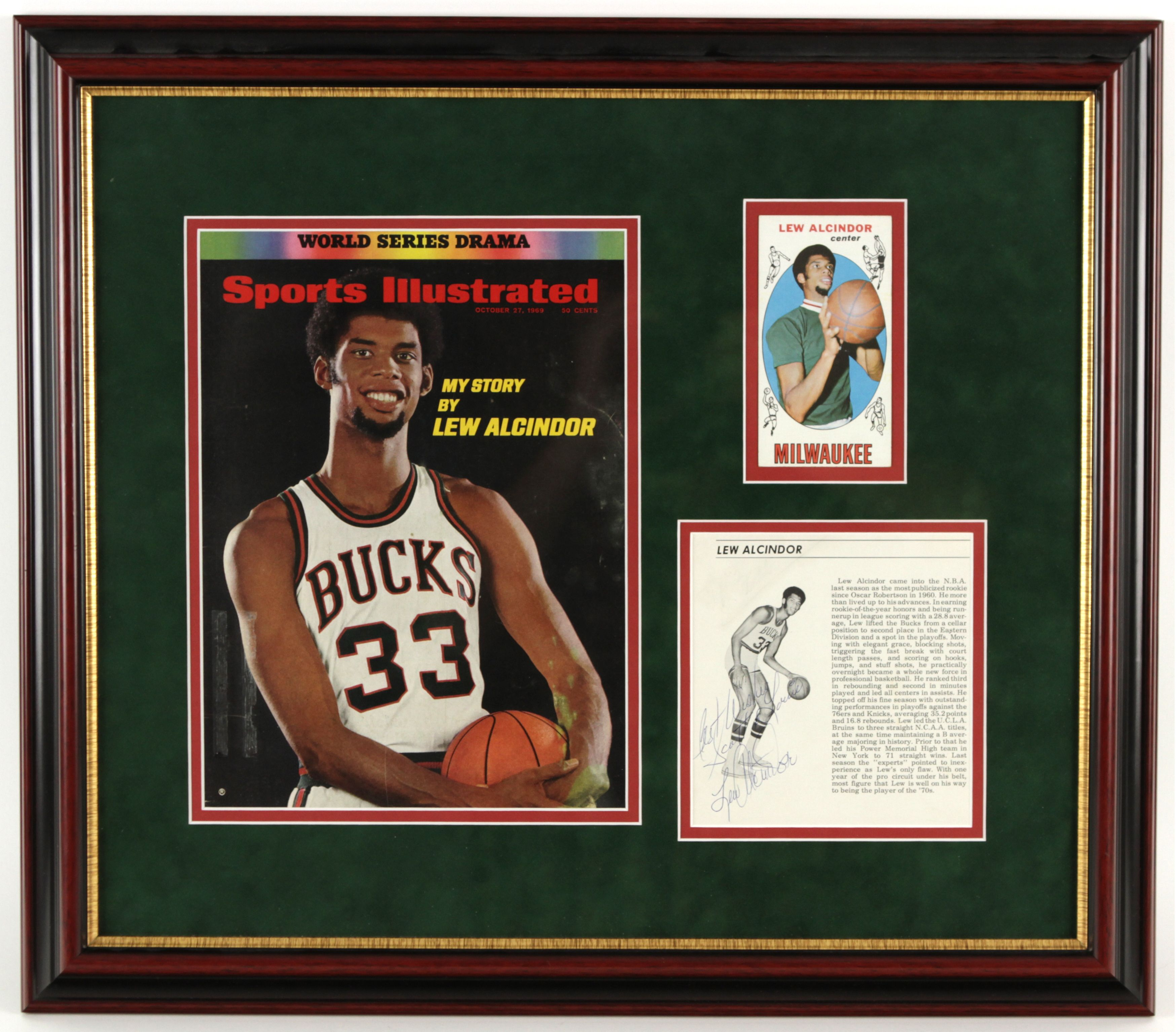 Lot Detail 1969 71 Lew Alcindor Milwaukee Bucks Signed Magazine
