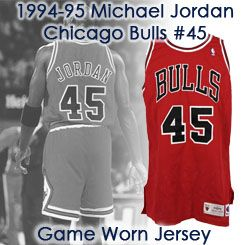 hot sales 83a6d ee65d Lot Detail - 1994-95 Michael Jordan Chicago Bulls Game Worn ...