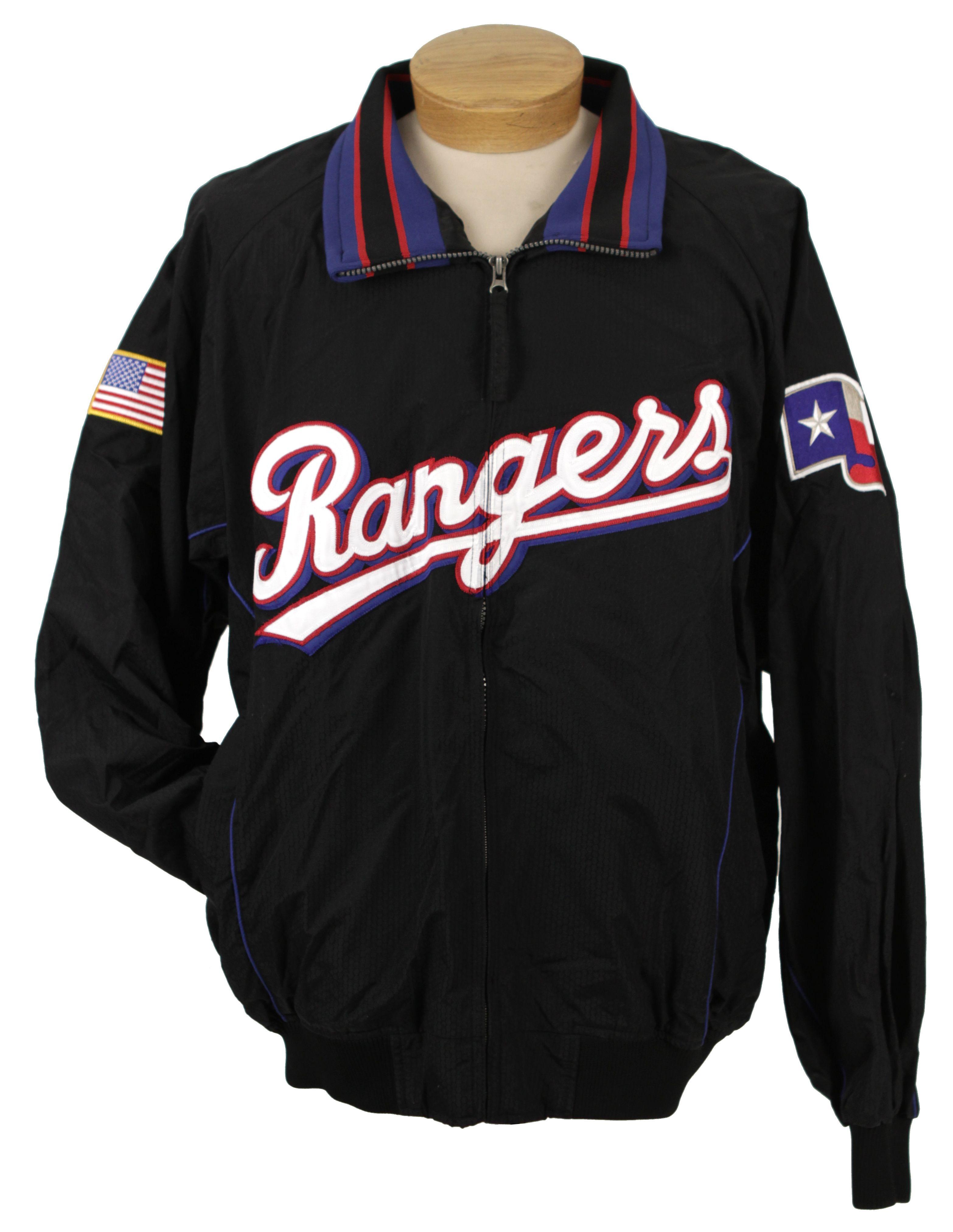 best service 153a1 70e4e Lot Detail - 2000s Texas Rangers Game Worn Bullpen Jacket ...
