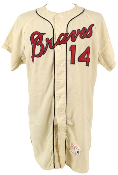 1964 Woody Woodward Milwaukee Braves Game Worn Flannel Jersey (MEARS A7)