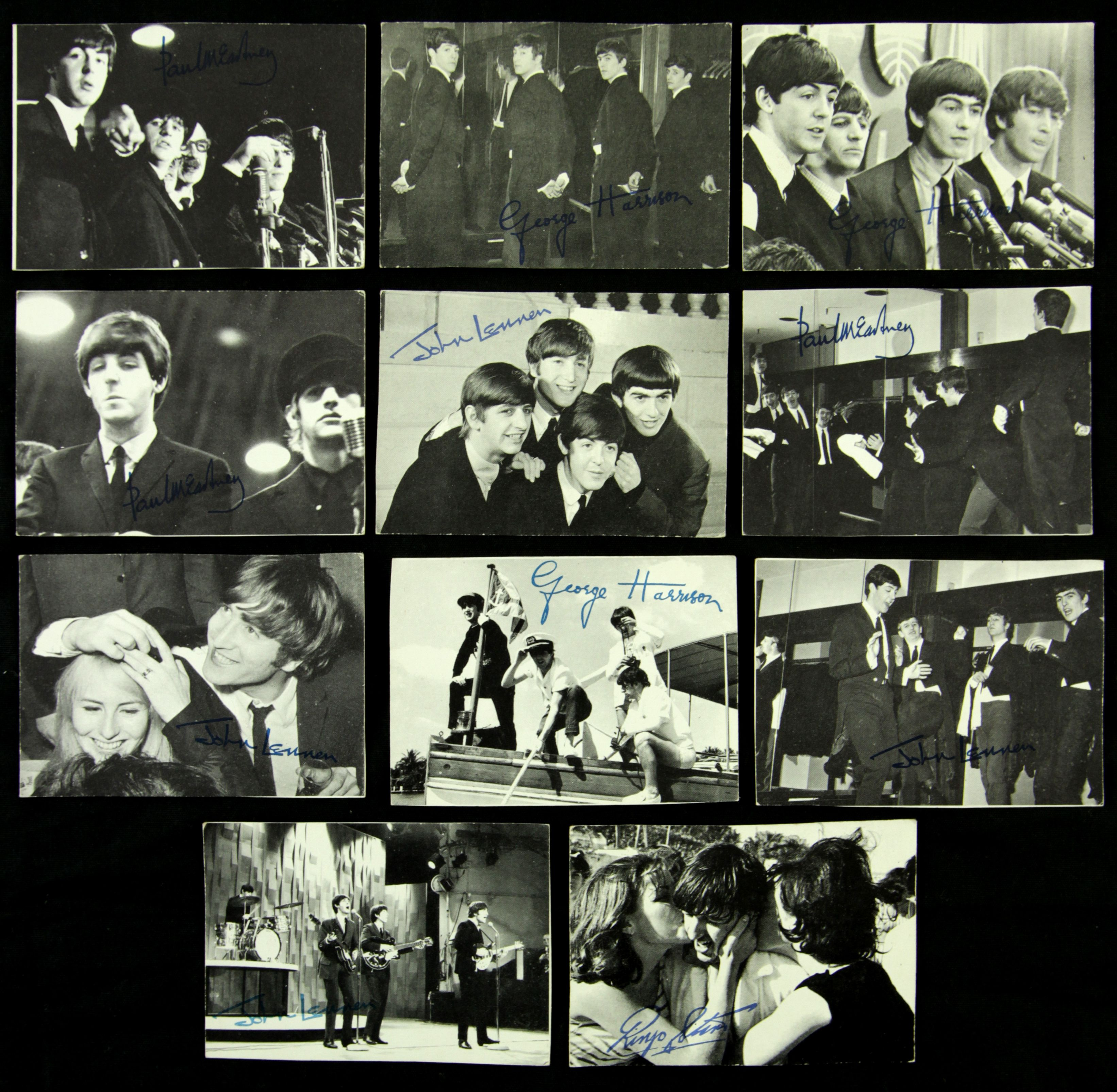 1964 topps beatles black and white 1st series checklist