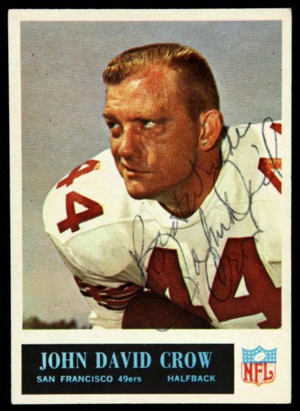 1965 Philadelphia John David Crow San Francisco 49ers Signed Card (JSA)