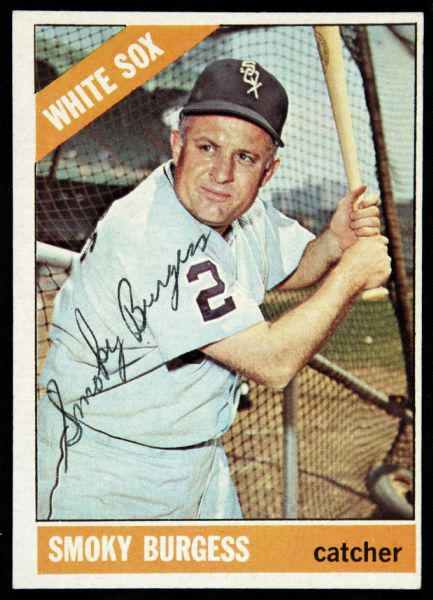 1966 Topps Smoky Burgess Chicago White Sox Signed Card (JSA)