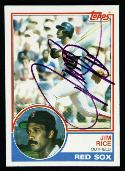 1983 Topps Jim Rice Boston Red Sox Signed Cad (JSA)