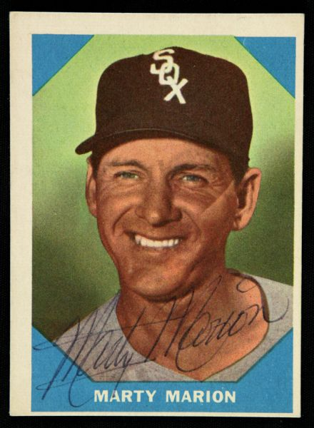 1960 Topps Marty Marion Chicago White Sox Signed Card (JSA)